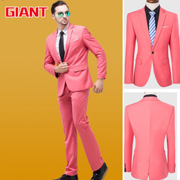 Wholesale Hotel Suits - Wholesale-Fashion Designer Hotel 8 Colors blue suits Business Brand Mens Suit set (Jacket+trousers) Blazer Men Jacket and Pant GM327