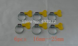 Wholesale Wholesale Steel Tubing - Butterfly Stainless Steel Hose Clamp, worm clamp,6 pcs lot, Fit 16mm O.D ~ 25mm O.D tubing A3
