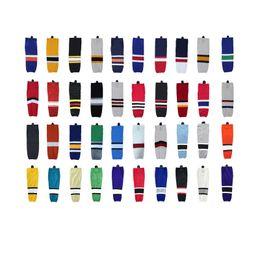 All'ingrosso-2016 100% poliestere Ice Hockey Calze Attrezzature squadra su misura Sport Support Can personalizzato come il vostro logo / formato / colore dei calzini da pattini di paintball fornitori