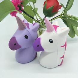 Wholesale Kids Squeeze Toy - Squishy unicorn Slow rebound Squeeze toys cartoon PU unicorn Decompression Toy Kawaii Squishy Unicorn Toy KKA3367