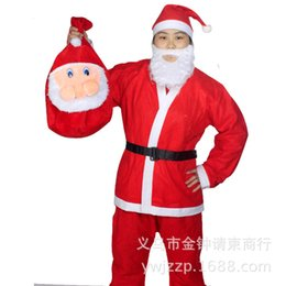 Wholesale Cheap Santa Claus Suits - Cheap adult clothing apparel red Santa Claus suit non-woven Christmas Christmas supplies wholesale clothing
