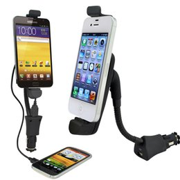 Wholesale Galaxy S S2 - Car Phone holder cigarette lighter usb charger for Apple Iphone 5 6 Samsung Galaxy S2 S3 S4 's Motorala Lenovo LG,ZTE,TCL,Xiaomi