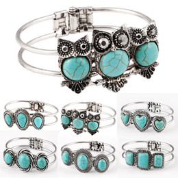 Wholesale Turquoise Direct - Factory direct sales Fashion Jewelry Mix Styles Vintage bracelets bangles for women charm women wedding jewelry bangles 6pcs lot