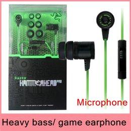 Wholesale Wireless Razer - Wholesale-Original Razer Hammer Head Pro Gaming & Music Earphone Headset + Audio Mic PC Adapter Retail packaging Free shipping