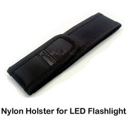 Wholesale Laser Belts - New Black Nylon Belt Holster Cover Pouch for UltraFire C8 E6 E17 A100 501B 502B LED Flashlight Torch 301 303 Laser Pen & DHL Free Delivery
