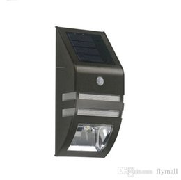 Wholesale Wholesale Outdoor Stair Lighting Solar - Bright Solar Powered Motion Sensor Light Street Light Outdoor Light Security Light For Patio Deck Yard Garden Home Stairs Wall Pathway