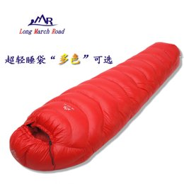 Wholesale Duck Down Filled Sleeping Bag - LMR high quality ultralight filling 400g duck down can be spliced camping duck down sleeping bag