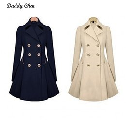 Wholesale Spring Trench Coats For Women - Wholesale-Especially long trench coat for women Double Breasted Slim female Wind breaker Outerwear Spring Autumn burderry trenchcoat 2017