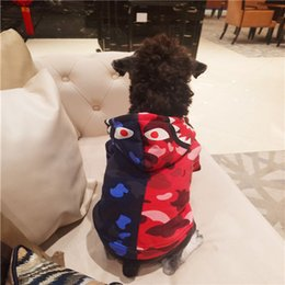 Wholesale New Fashion Camouflage Clothing - Pet Dog Apparel Camouflage Hip-Hop Clothing Dog Hooded Hoodies Fashion Brand Teddy Puppy Apparel Winter Outfit Sweater For Dog Cat
