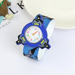 Wholesale Batman Hand - New Cartoon Pattern Slap watches Hand Spinners Fidget Spinner Top Colorful band Batman Spiderman Frozen Cartoon Snap Slap Silicone watch