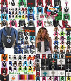 Wholesale Mixed Scarf Pendant Jewelry - 2015 Pendant Scarf jewelry With cross owl 10 Designs for women,necklace womens long scarves Fashion Jewellery Mix DHL Free