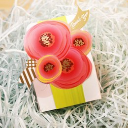 Wholesale chinese favor boxes cheap - Multi Color Flower Paper Favor Boxes for Wedding Novelty Beautiful Party Boxes Dropship New Arrival Cheap Candy Boxes for Sale