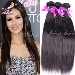 Wholesale Remy Raw Hair - Brazilian Hair Weft Peruvian Virgin Hair Straight 100% Unprocessed Virgin Remy Human Hair Cambodian Hair Bundles Cheap 4pcs Raw Hair Weaves