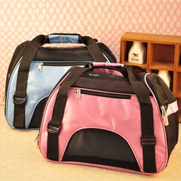 Wholesale Mesh Cat Carrier - Pet Carrier Bag Carrying Mesh Breathable Travel Handbags Cat Dog Carrier Bags for Small Dogs Pet Supplies Oxford Cloth HB0006