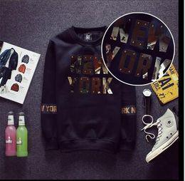 Wholesale South Korea Mens - Free shipping HOT Metal strips LETTER South Korea Hoodie Rider Men's Jacket Men's Coat Sweat Shirt mens coat color