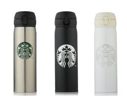 2019 garrafas de água em forma de animais Drinkware 450ml 350ml Clássica Starbucks Caneca De Aço Inoxidável Starbucks Otário Xícara De Café Starbucks Longo Garrafa De Água De Isolamento Térmico