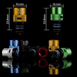 Wholesale Dct Cartomizers - Newest Adjustable airflow Wide Bore Drip Tip Aluminum Resin Drip Tips for RAD RBA EE2 DCT Cartomizers CE4 EGO Aerotank Atomizer Vaporizer
