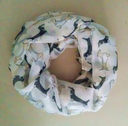 Wholesale Dog Ring Fashion - 2015 New Arrival Fashion animal print Scarf Dog dachshund ladies infinity scarves Mix 9 Color Pashmina women scarves