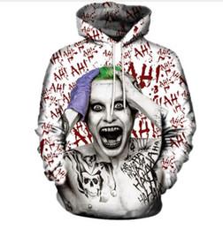 Wholesale Hoodies Joker - New Fashion Hip Hop 3d Hoodies Harajuku Style Joker Printed Women Men Hoody Streetwear Hooded Sweatshirts LMS00044