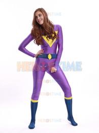 Wholesale Halloween Costume Xs - The Wonder Twins Jayna Costume spandex fullbody superhero costume halloween costume