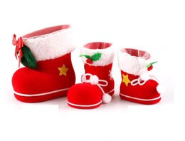 Wholesale Gift Box For Ornament - Christmas ornaments candy boots Christmas Decorations box candy Candy Bags Lovely Gifts Xmas boots for children Stocking boots CC03P