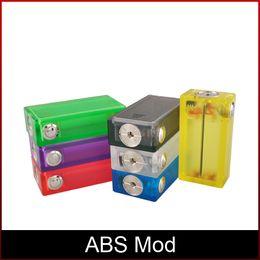 Boîte de cigarettes ABS Mod E colorée avec boîte de boîtes de cigarettes acrylique Boîte de boîtes de lumière acrylique Mod Top En Stock DHL ? partir de fabricateur