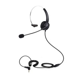 Wholesale Call Customer - Professional Telephone Headset Clear Voice Noise Cancellation Customer Service Wired Head-mounted Headphone 2.5mm Earphone Jack for Call Cen