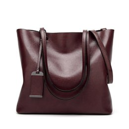 Wholesale Large Leather Shoulder Purse - Famous Designer Brand Leather Tote Bag Women Handbags High Quality Large Capacity Shoulder Bags Fashion Lady Purses Crossbody Bag Bolsas