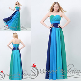 Wholesale Beautiful Red Carpet Dresses - Top Sale High Quality 2015 In Stock Latest Beautiful Real Pictures Free Shipping Chiffon Muti Color Long Party Prom Evening Dresses