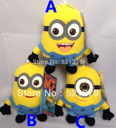 Wholesale Despicable Plush 7inch - Free shipping 1pcs 7inch Despicable Me Minions Plush Toys Doll,3 design for your choose