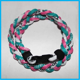 Wholesale Cheap Titanium Necklace Free Shipping - cheap factory wholesale titanium necklace 3 rope necklace with different styles and colors DHL Free shipping