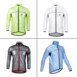 Wholesale White Windbreaker Wholesale - Cycling Raincoat Dust Coat Windbreaker Bike Jacket Jersey Bicycle Raincoat Waterproof Windproof MTB Cycling Raincoat Wholesale 2505011