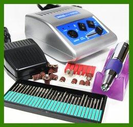 Wholesale Electric Nail Drill 12v - Wholesale-110V 220V grey 278 Electric Nail drill Manicure machine Pedicure Drill File Tool Kit 12V