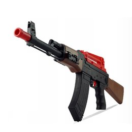 Wholesale Toy Shooting Range - AK47 Powerful Water Ball Gun Assembly With Power Long Range Shooting Rifle With Water Bullet Beach Playing Nerf Water Gun Toy