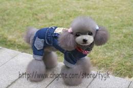 Wholesale Cheap Large Dog Wedding Clothes - Pet Clothes Dog Clothing Dog Fancy Jeans Pants Warm Winter Dog Sport Sweater Cheap Pet Jumpsuit Coat Warm Fleece Pet Clothes 5 Size