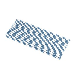 Wholesale Blue Polka Dot Straw - 250PCS 10 Packs Striped and Polka Dot Paper Straws Eco-friendly Navy Blue Drinking Paper Straws for Party Birthday Wedding Supplies ZZM21