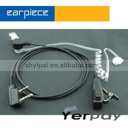 Wholesale Earpiece Earphone For Radio - FBI in-ear noise cancelling walkiet talkie mic headset earphone earpiece with PTT for Kenwood baofeng pofung wouxun puxing radio 2pcs lot