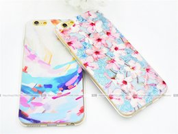 Wholesale Tpu Print Case 5s - Shell For Apple iPhone 5 5S 6 6S Back Case Cover Printing Mandala Flower Datura Floral Cell Phone Cases