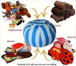 Cadeiras para crianças on-line-Sacos de Feijão de Armazenamento crianças 60 cm 33 cores Plush Toys Beanbag Cadeira Quarto Stuffed Animal Sala Estojos Saco De Armazenamento De Roupas Portátil 10 pcs YYA813
