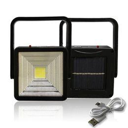 Generatore portatile di energia solare online-Led solar Light Caricatore USB Power bank Generatore portatile Luminaria Lanterna Lampara Impermeabile Pannello solare Tenda da campeggio