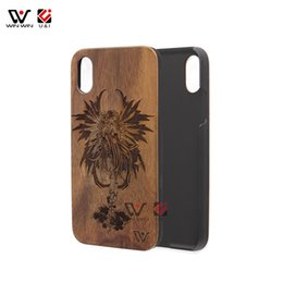 Wholesale drop ship plastic models - Retro Walnut Wood Case For iPhone X Apple 10 Hard Cell Phone Mobile Cover Dirt Resistant Coque for iPhone Custom Model Drop Ship