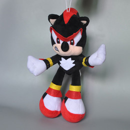 """Wholesale Sonic Hedgehog Wholesale - EMS New 10"""" 25CM Shadow Plush Doll Sonic The Hedgehog Kid's Soft Dolls Anime Collectible Stuffed Pendants Best Gifts Toys"""