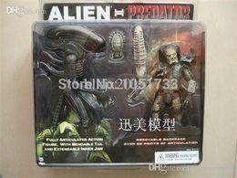 Wholesale Neca Alien Predator - Free Shipping NECA Alien VS Predator Tru Exclusive 2-PACK PVC Action Figure Toy MVFG036