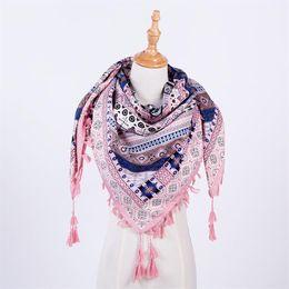 Wholesale Wool Scarf Large - 2017 Brand Designer Winter Scarf For Women Cashmere Autumn Fashion Warm Large Triangle Shawl Plaid Wool Blanket Wholesale M837