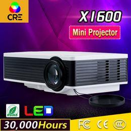Wholesale vga prices - Wholesale- low price high quality hdmi, usb, vga multimedia smart mini projector CRE X1600