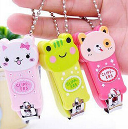 Wholesale Manicure Set Nail Care - Cartoon Baby Nail Clipper New Cute Children's Nail Care Cutlery Scissors Animal Infant Nail Clippers with Keychain