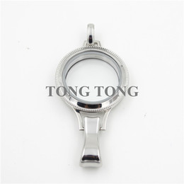 Wholesale Twist Glass Stainless Steel Locket - Waterproof! 30mm Silver 316L Stainless Steel Twisted-off HEIRLOOM Lanyard Charm Glass Locket