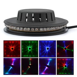 strobe leds Canada - Mini 48 LEDs 8W RGB Sunflower LED Stage Lighting Hanging Wall Lamp Corridor Ambient Lights Bar Disco Micro Rotating Background Effect Lights