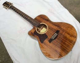 Wholesale Left Hand Acoustic Guitars - Free Shipping Deluxe Model koa K24ce Acoustic Electric Guitar Fishman Left Handed good Quality 151118