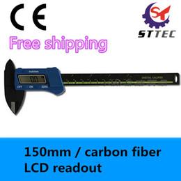 Wholesale Cheap Caliper - Wholesale-High accuracy cheap LCD carbon fiber 150mm plastic digital vernier caliper